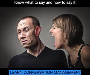 Conversation management advertising copy