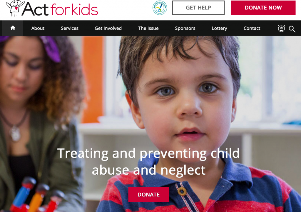 ACT FOR KIDS website